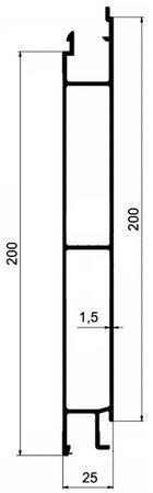 cennik - profile środkowe 200 mm